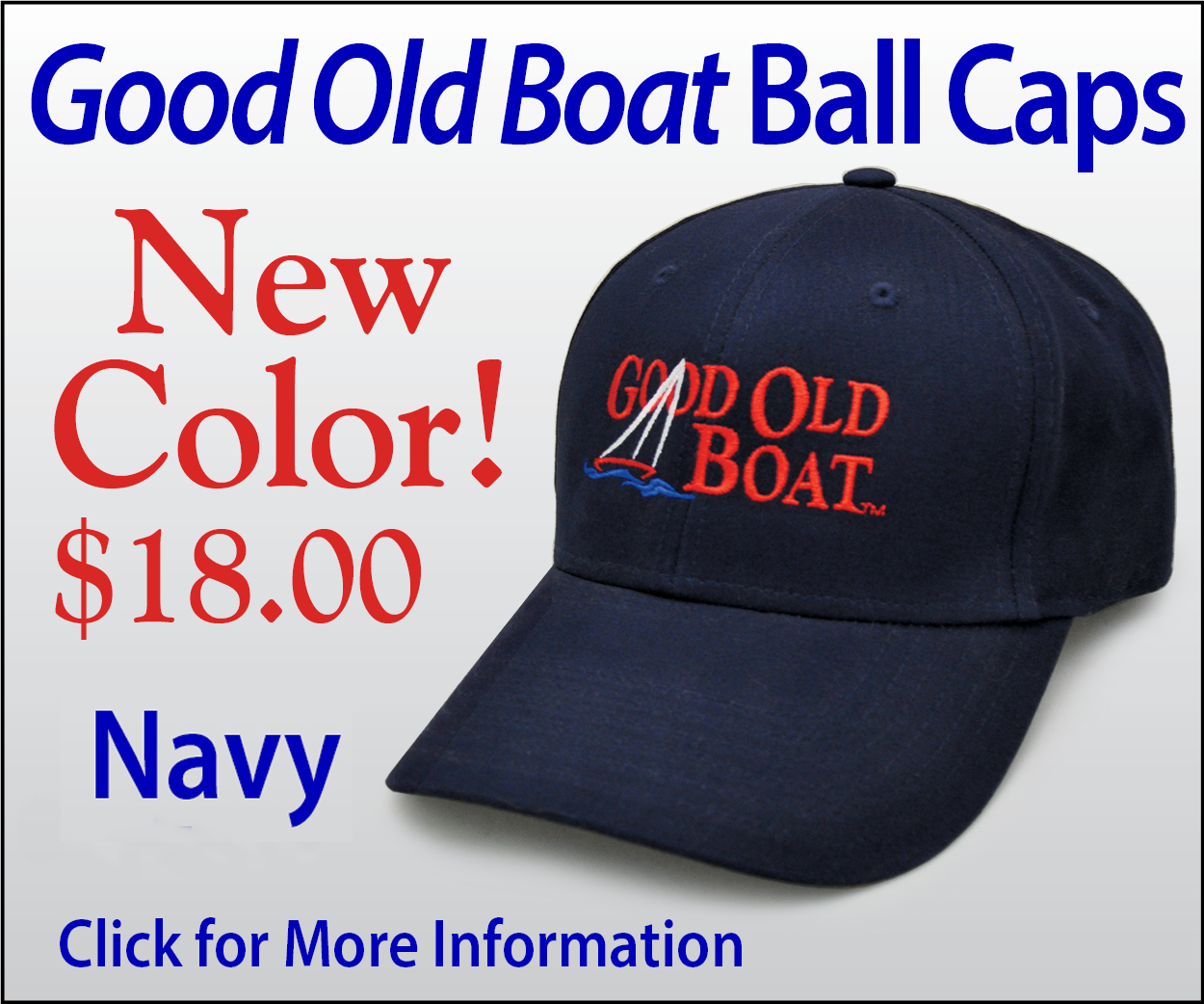 New Good Old Boat Ball Cap