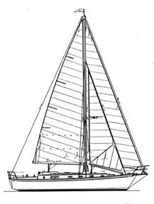 38-foot cutter drawing