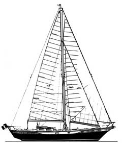 46-foot cutter without bowsprit