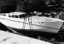The Alaska 43 with double-chine steel hull