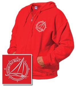 Zip-front Hooded Sweatshirt