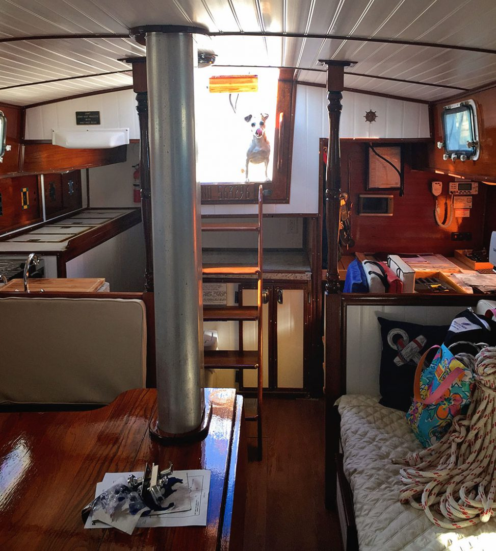 interior of a Gulfstar 41 sailboat