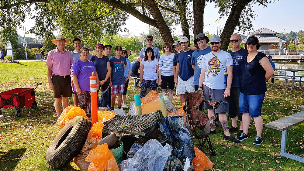 Sailors participate in The Great Canadian Shoreline Cleanup