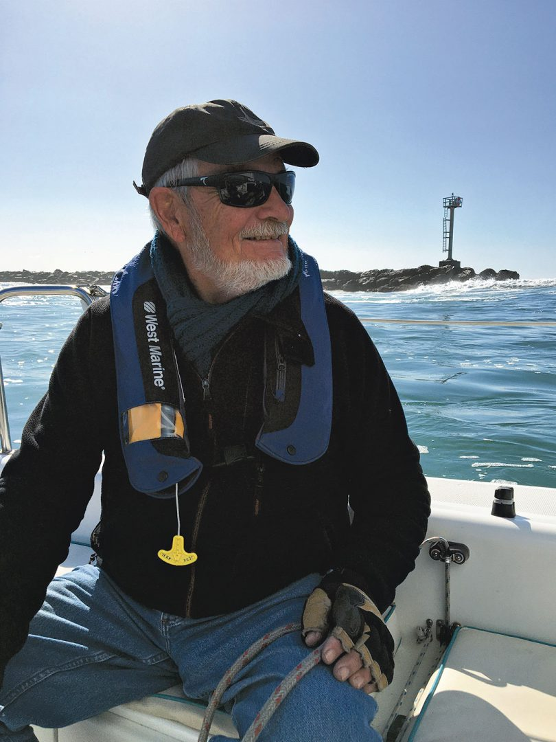 Brian Fagan sailing