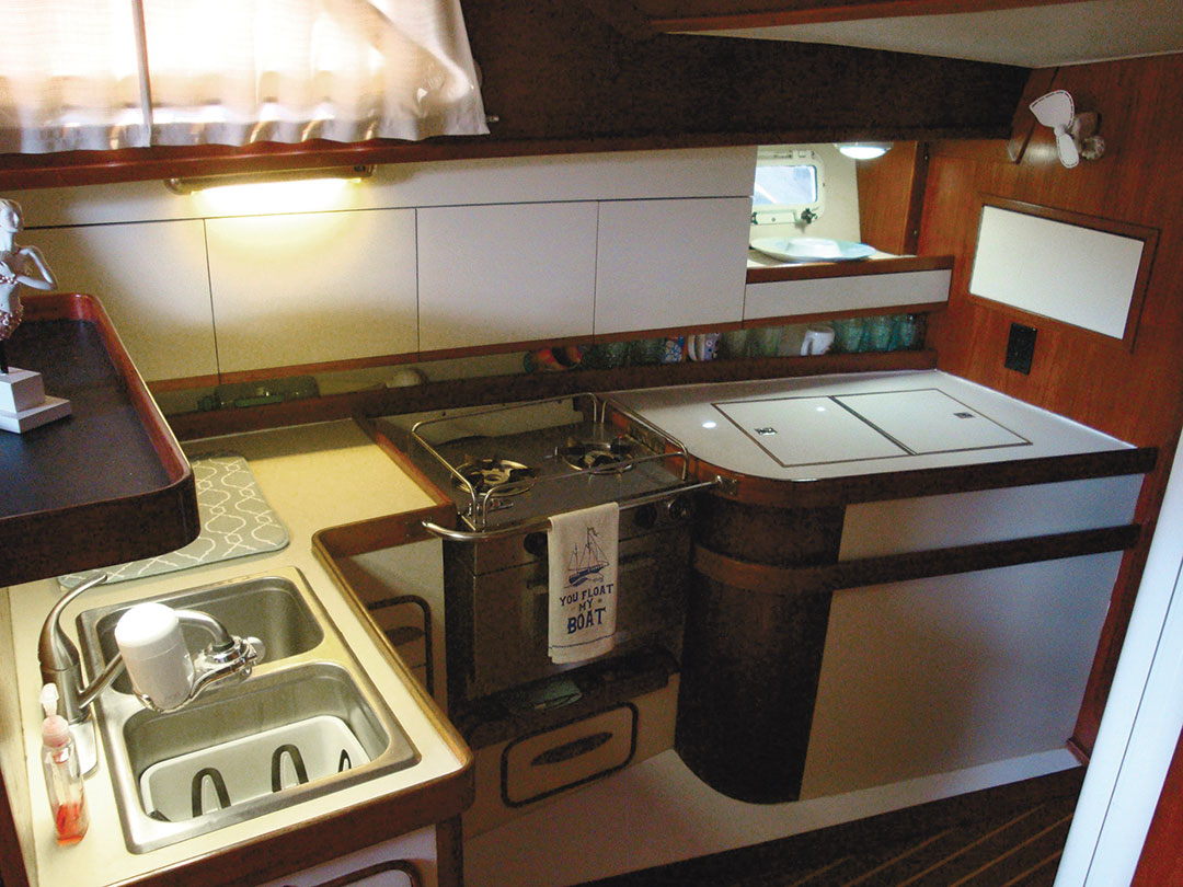 galley with double sink
