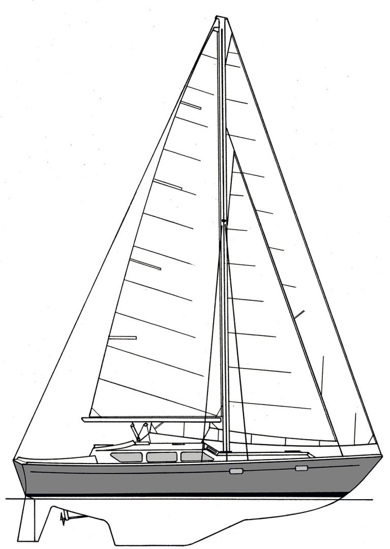 Gulfstar 39 Sailmaster illustration