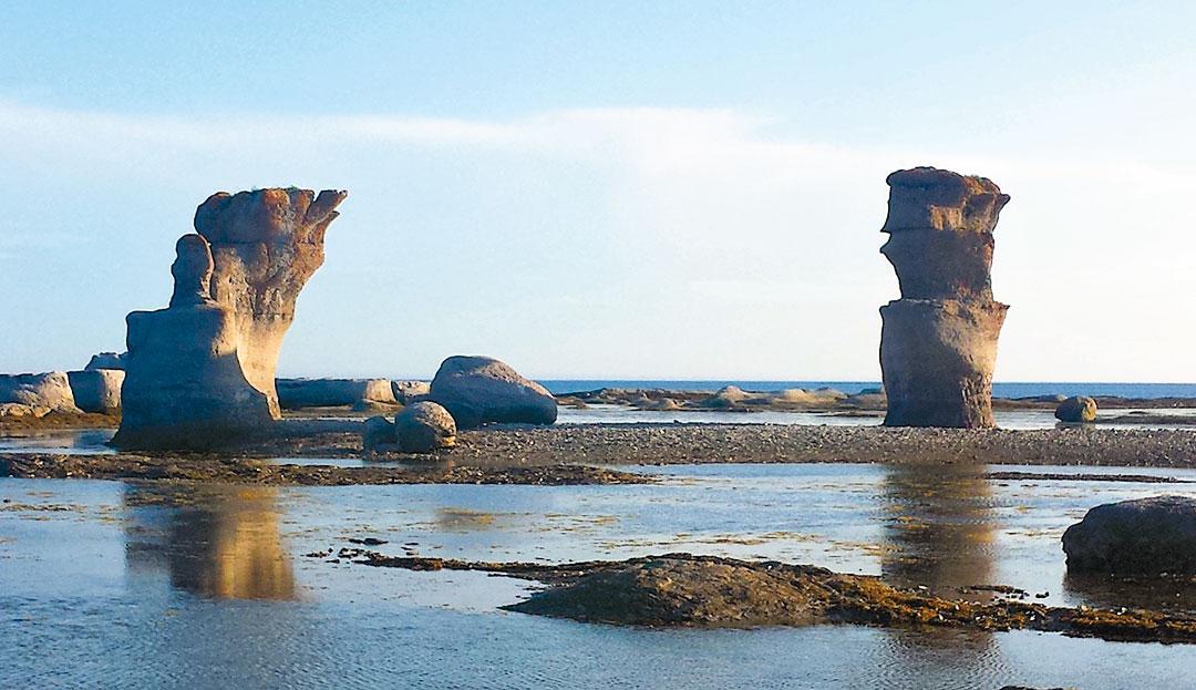 Limestone monoliths in the Mongan Archipelago