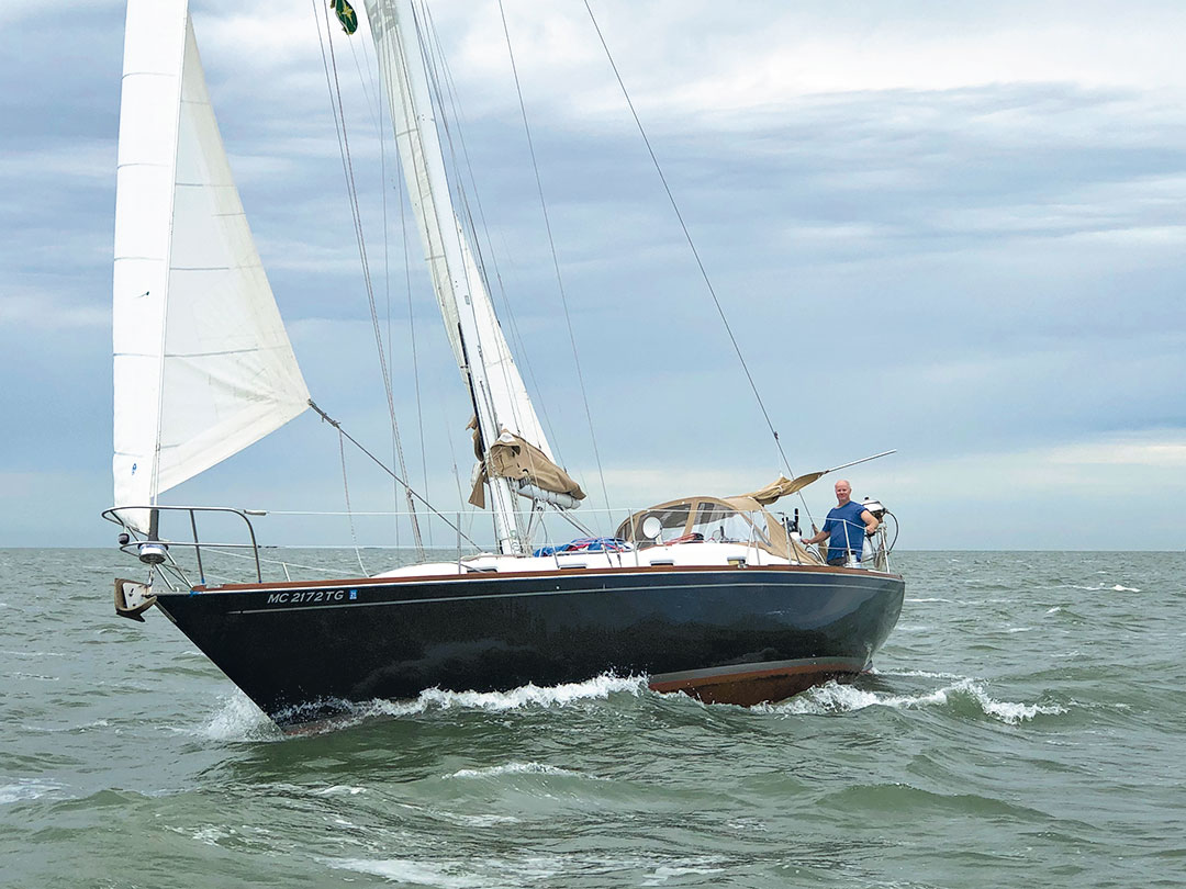 Tartan 37 sailboat under sail