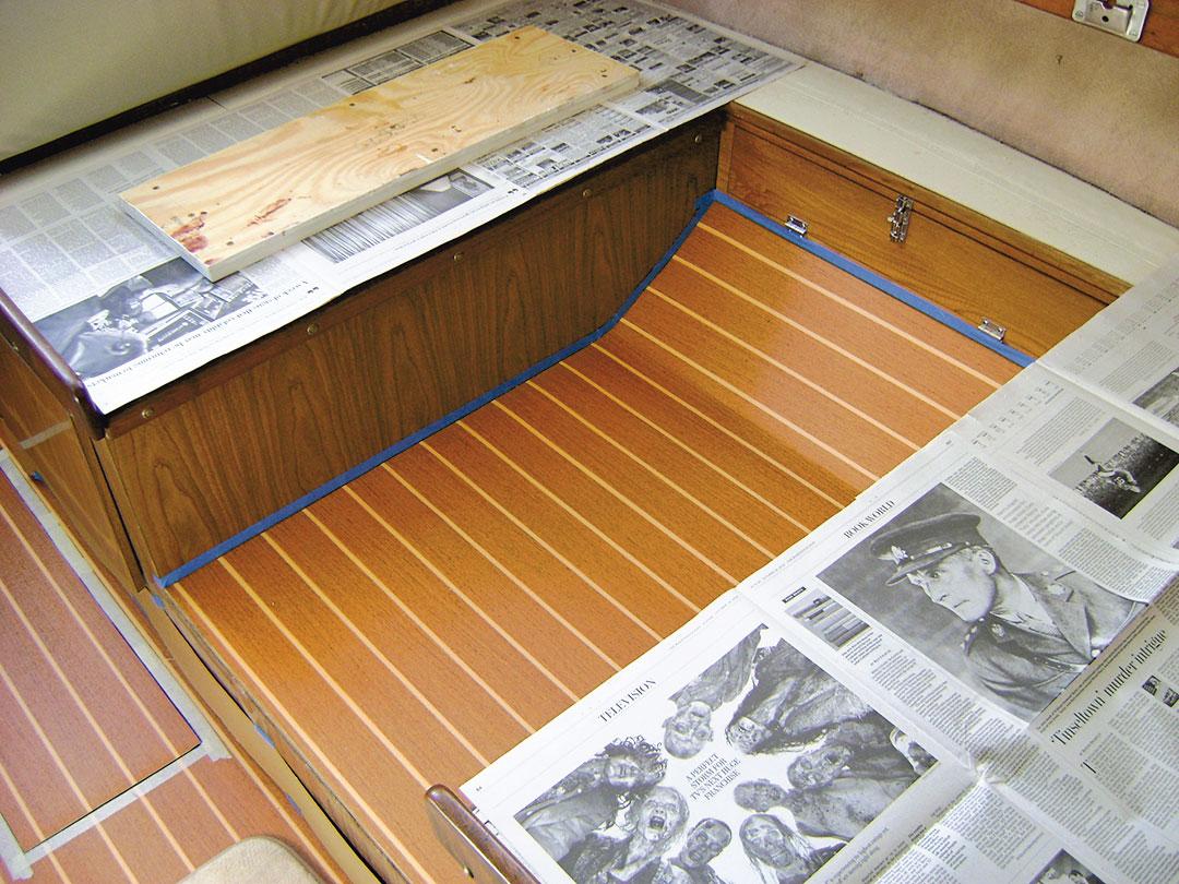 dining floor before trim