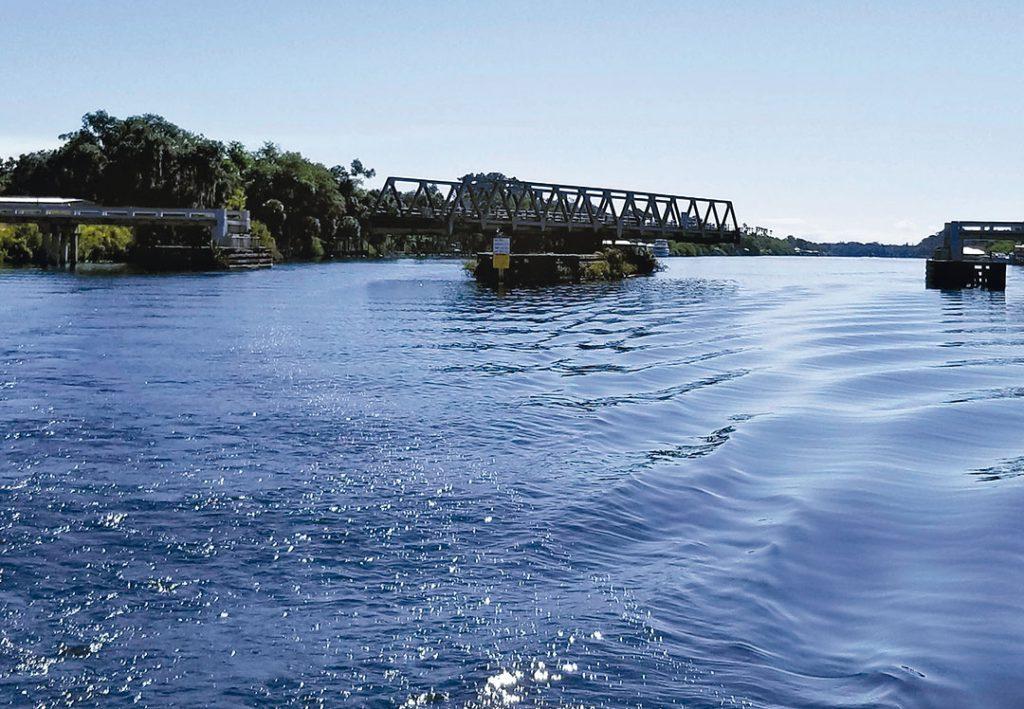 Fort Denaud swing bridge