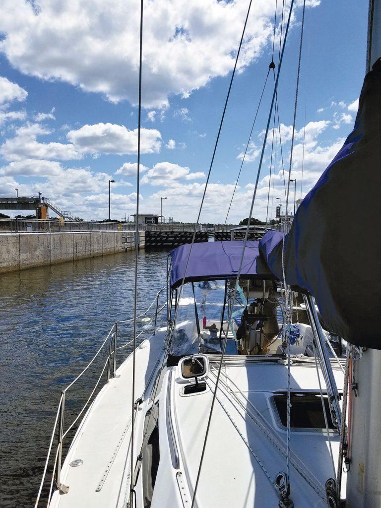 Sailboat in W.P. Franklin Lock