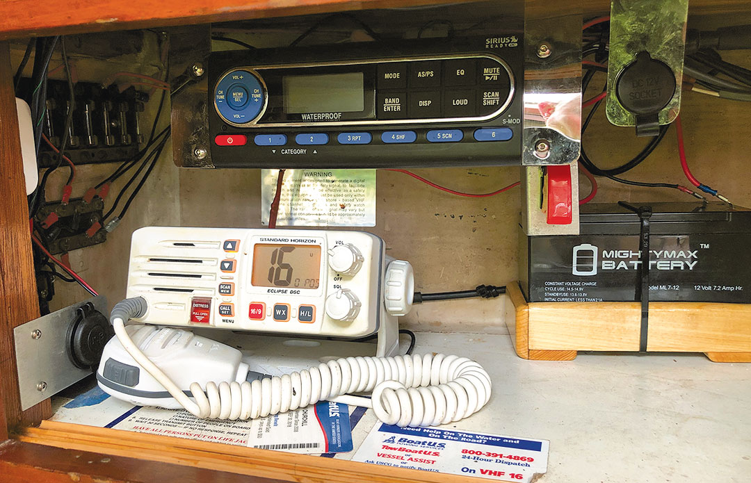 vhf with battery backup