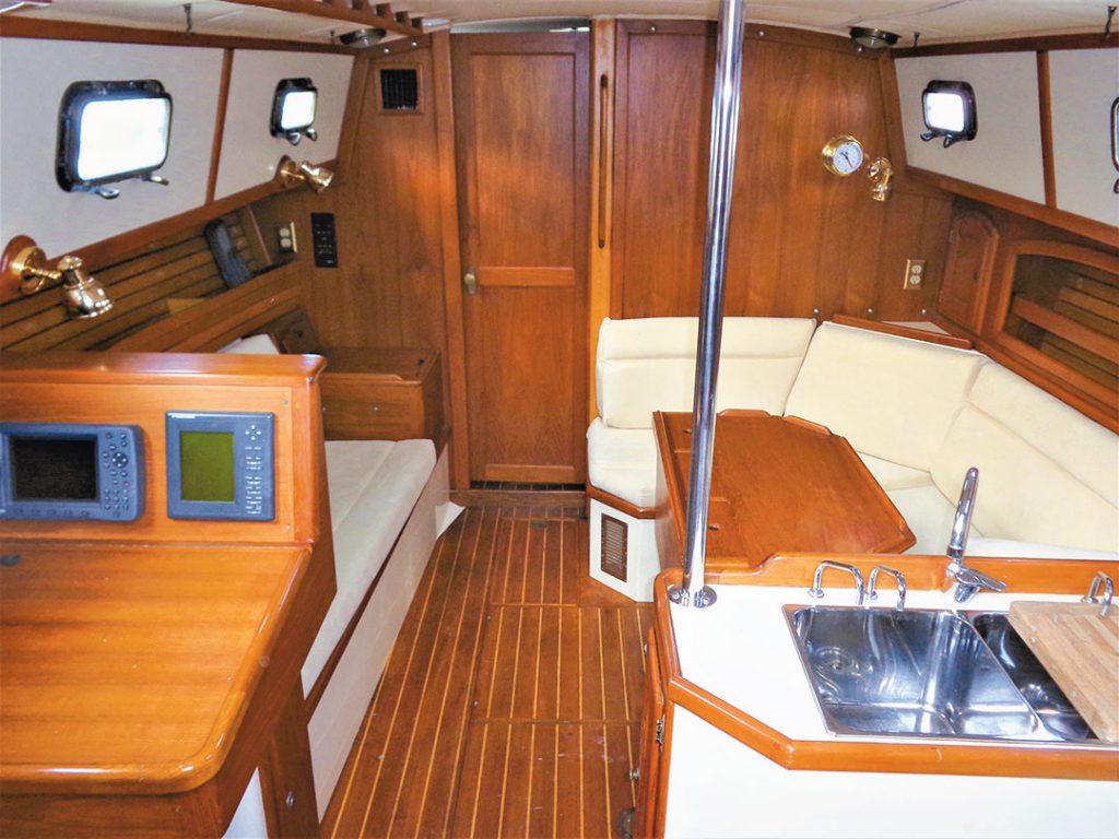 sailboat teak interior