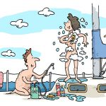 A DIY Sailboat Shower – Rub a Dub Dub