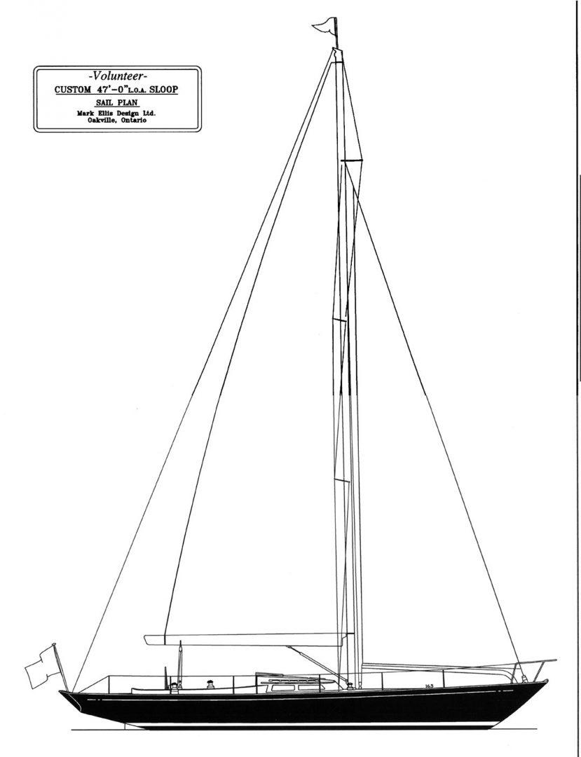 Ellis' custom-built Volunteer sailboat