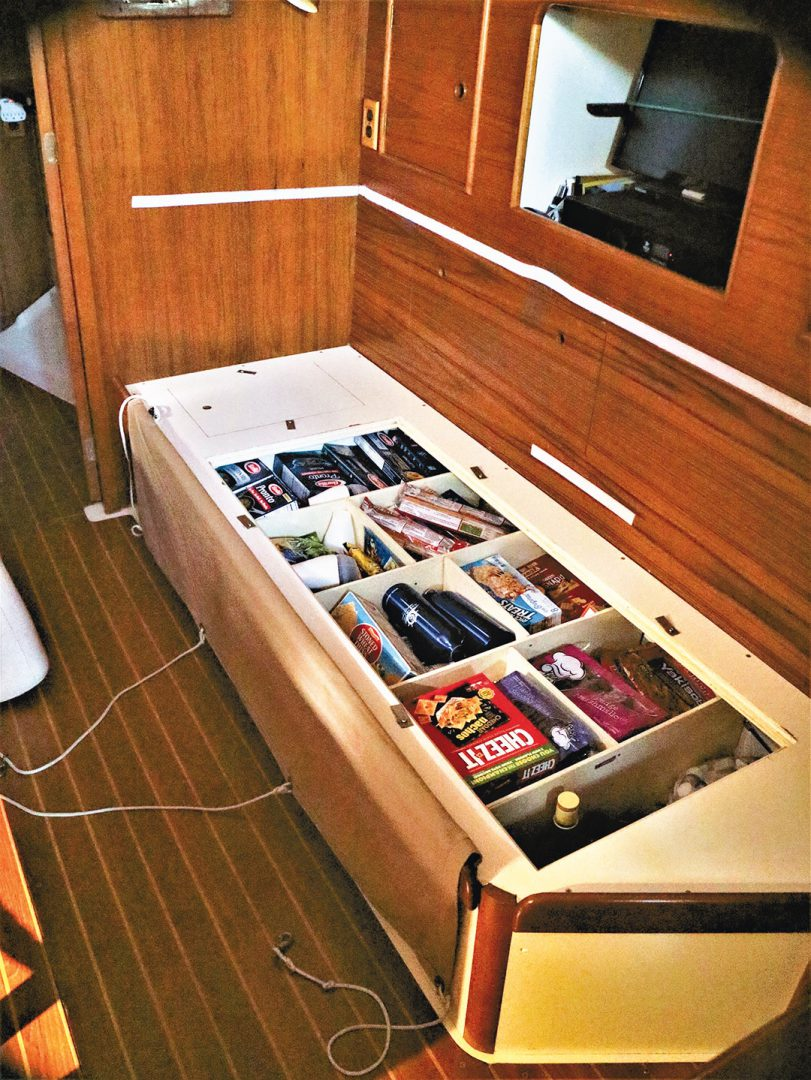 Nonsuch 36 sailboat storage