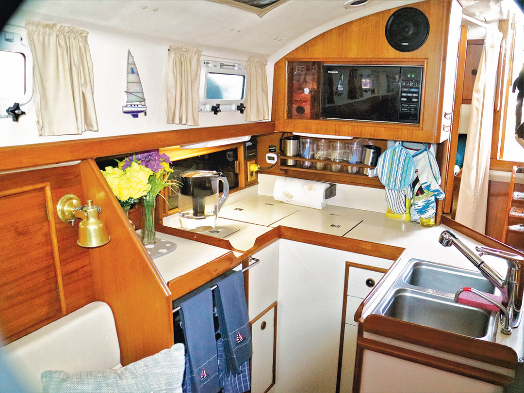 Nonsuch 36 sailboat galley