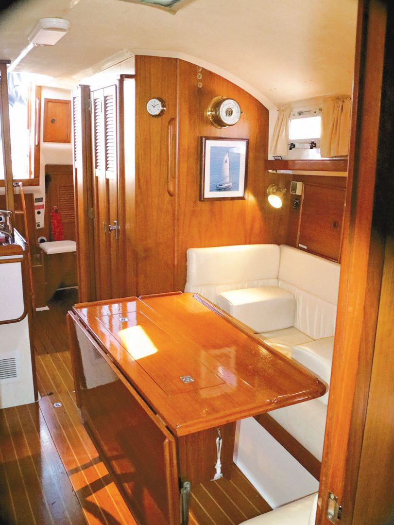 Nonsuch 36 sailboat salon