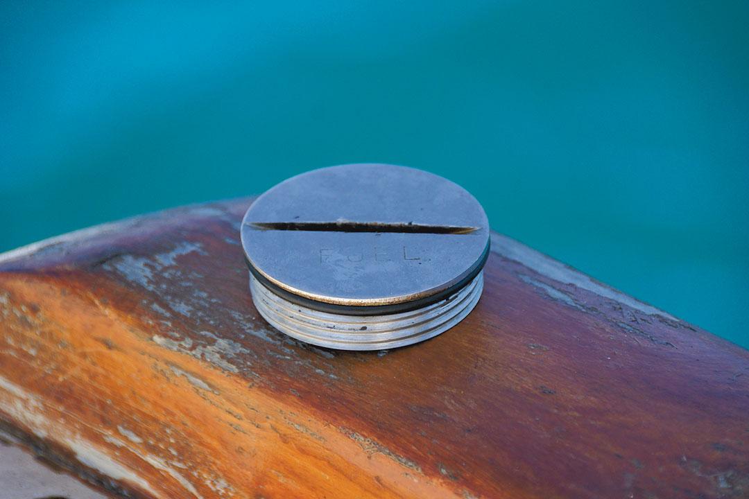 fuel cap on sailboat