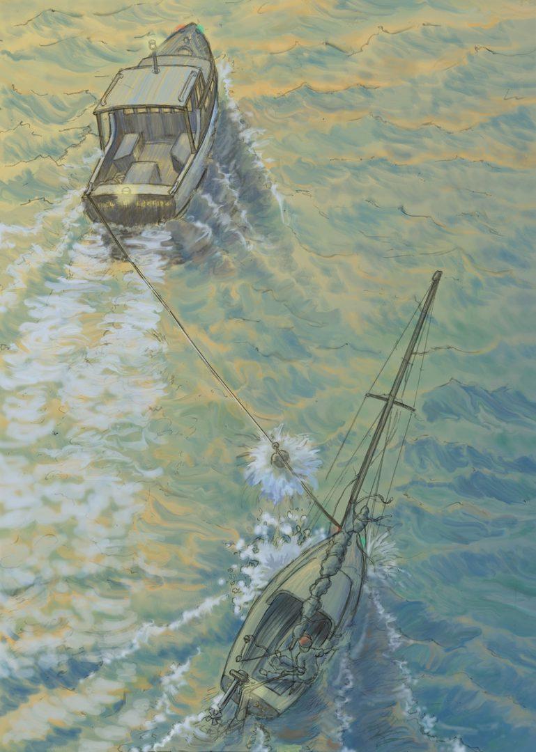 Boat towing terror