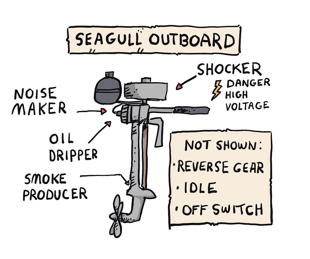 Seagull outboard diagram