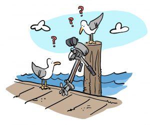 Seagull outboard engine illustration