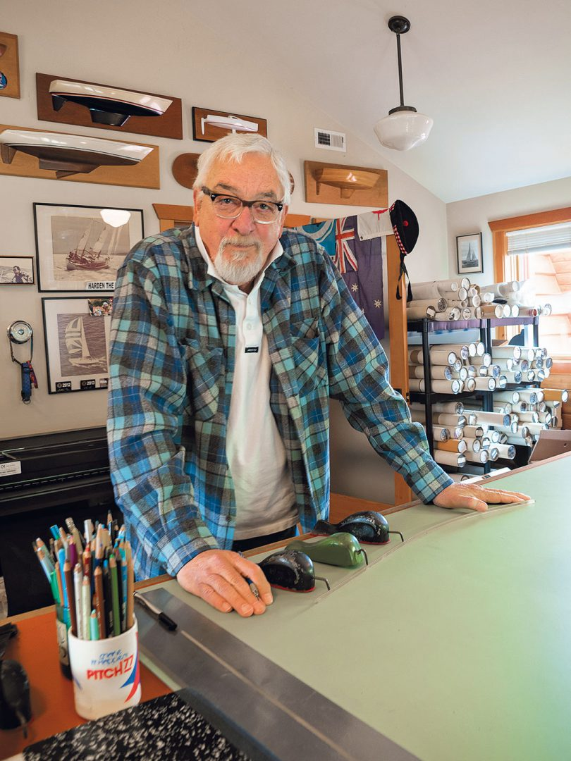 Bob Perry at drafting table