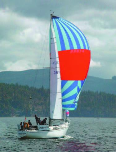 pearson 36 sailboat under sail