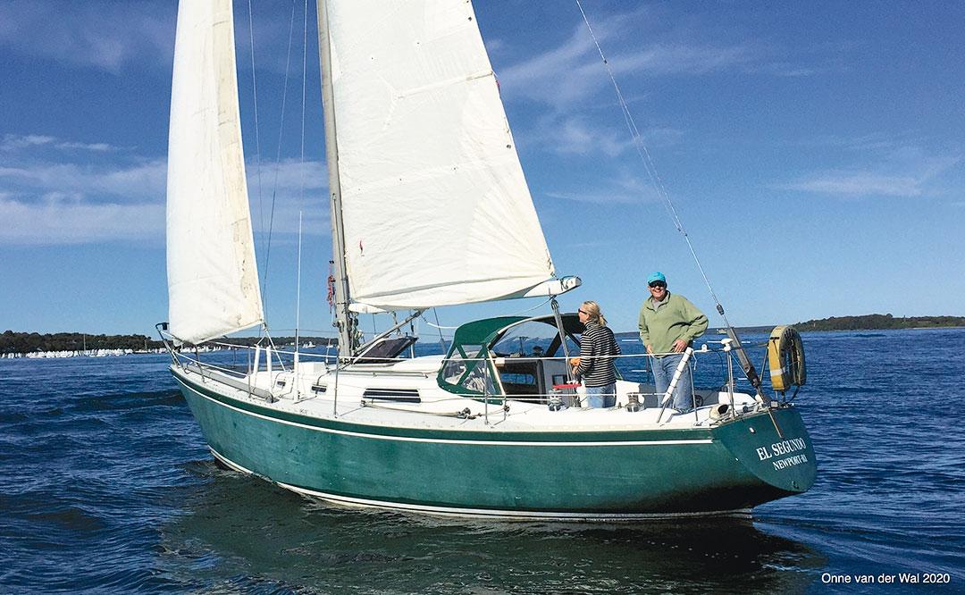 Onne van der Wal sailing Tenley
