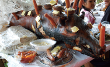 roasted pig in Tonga